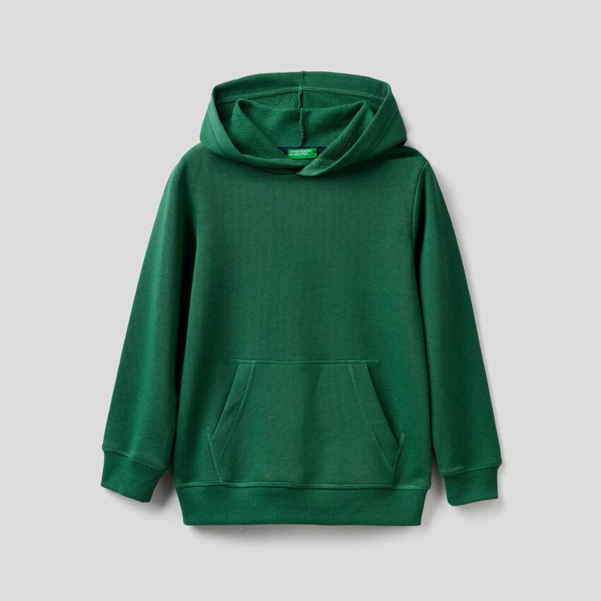 Sweat vert foncé avec capuche