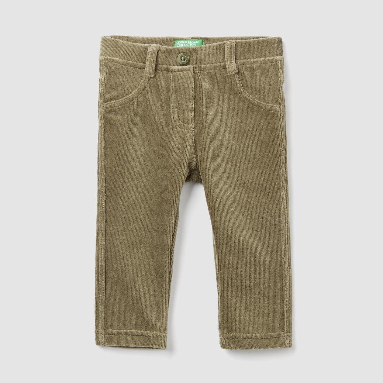 Pantalon en côtes stretch