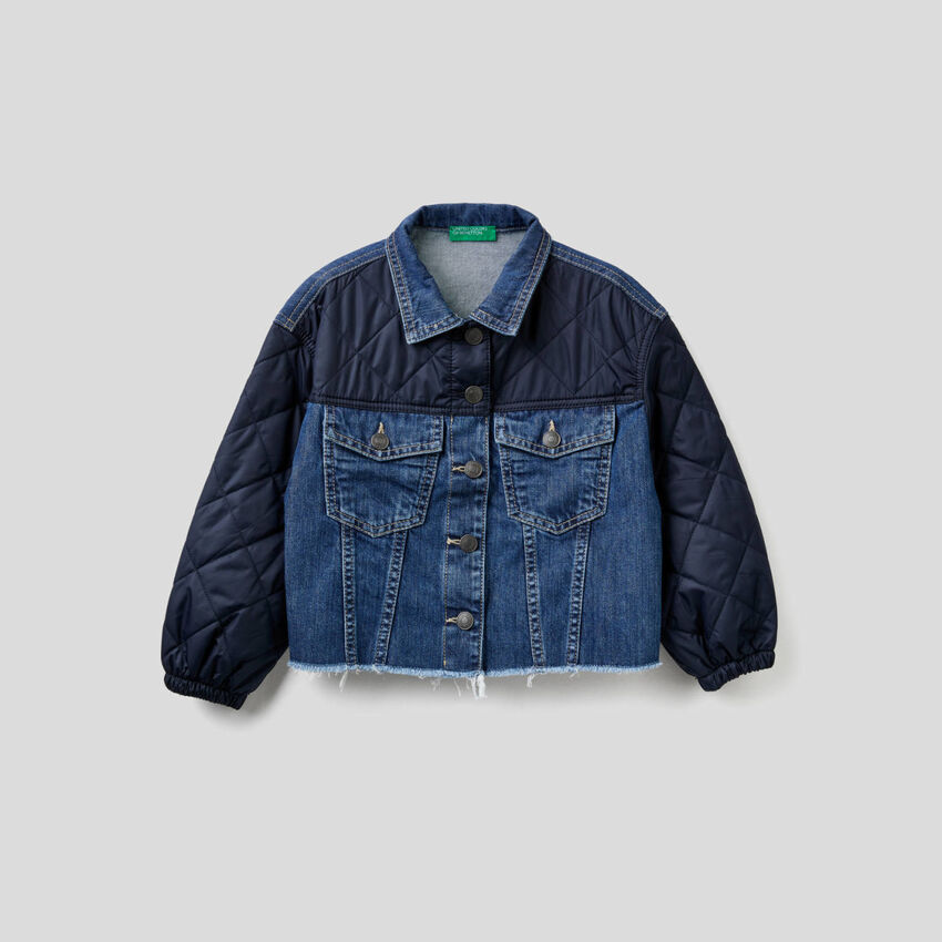 Blouson en jeans avec détails matelassés