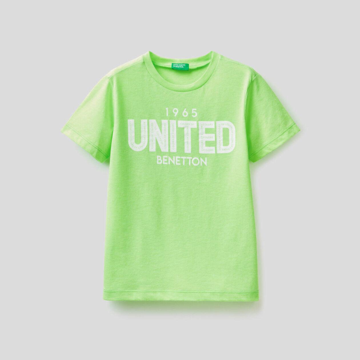 T-shirt fluo avec imprimé logo