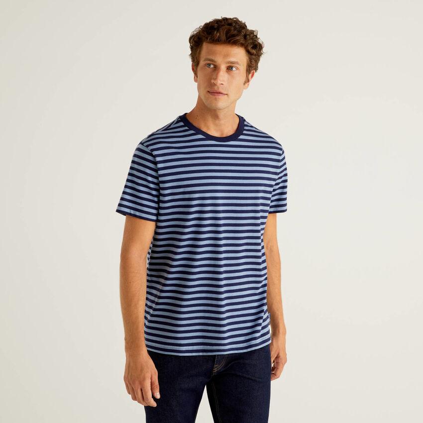T-shirt à rayures en 100% coton bio