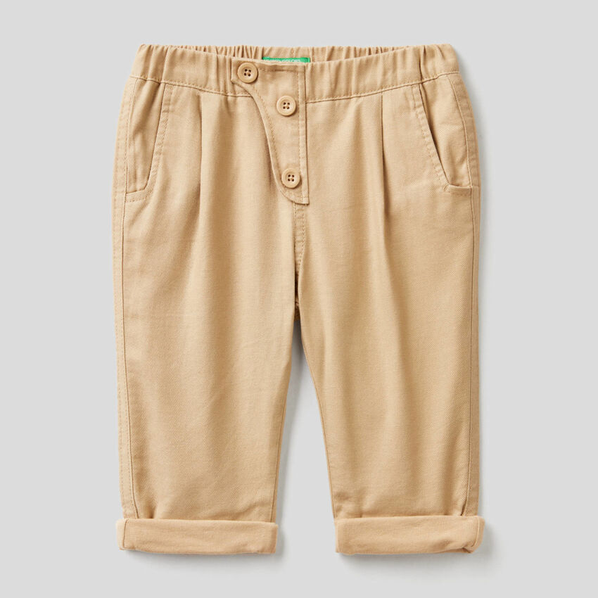 Pantalon souple en flanelle