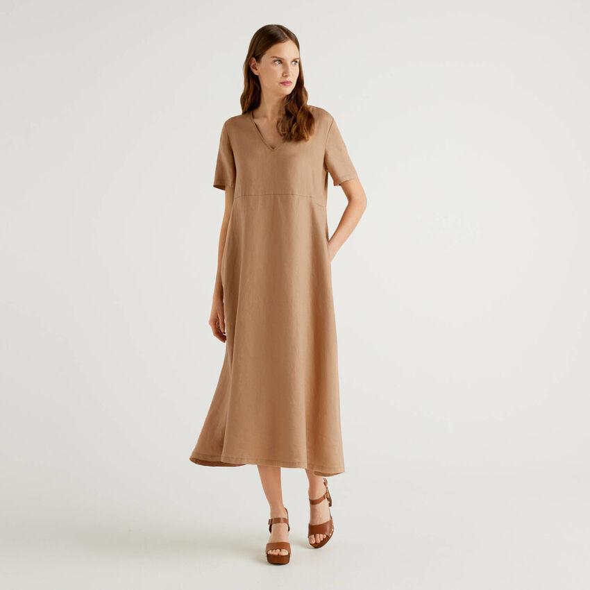 Robe longue 100% lin