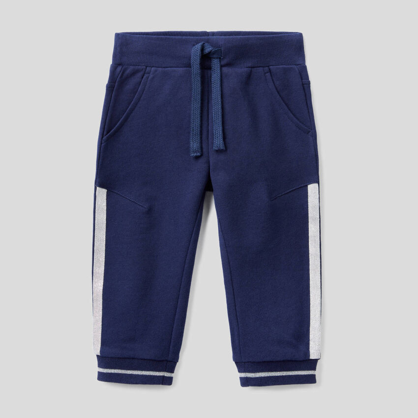 Pantalon en molleton avec détails en lurex