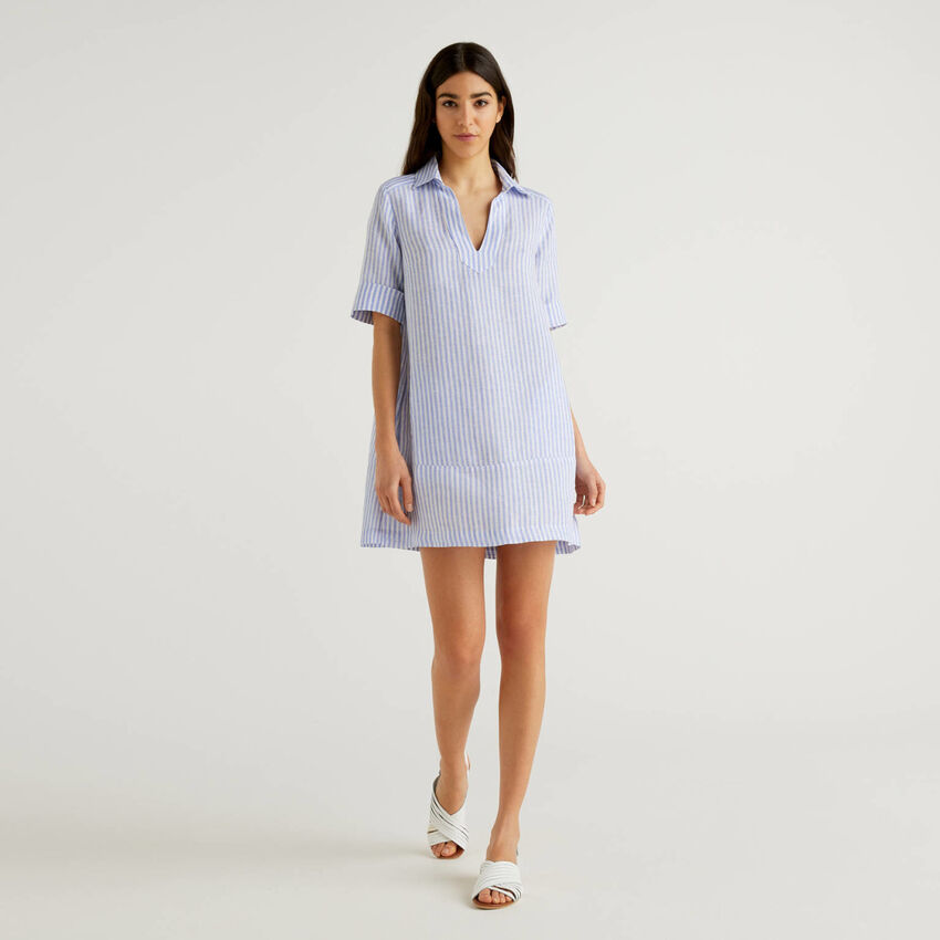 Robe courte 100% lin