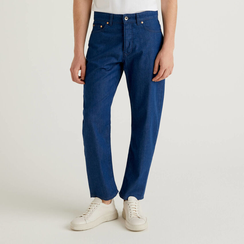 Jeans léger coupe carrot