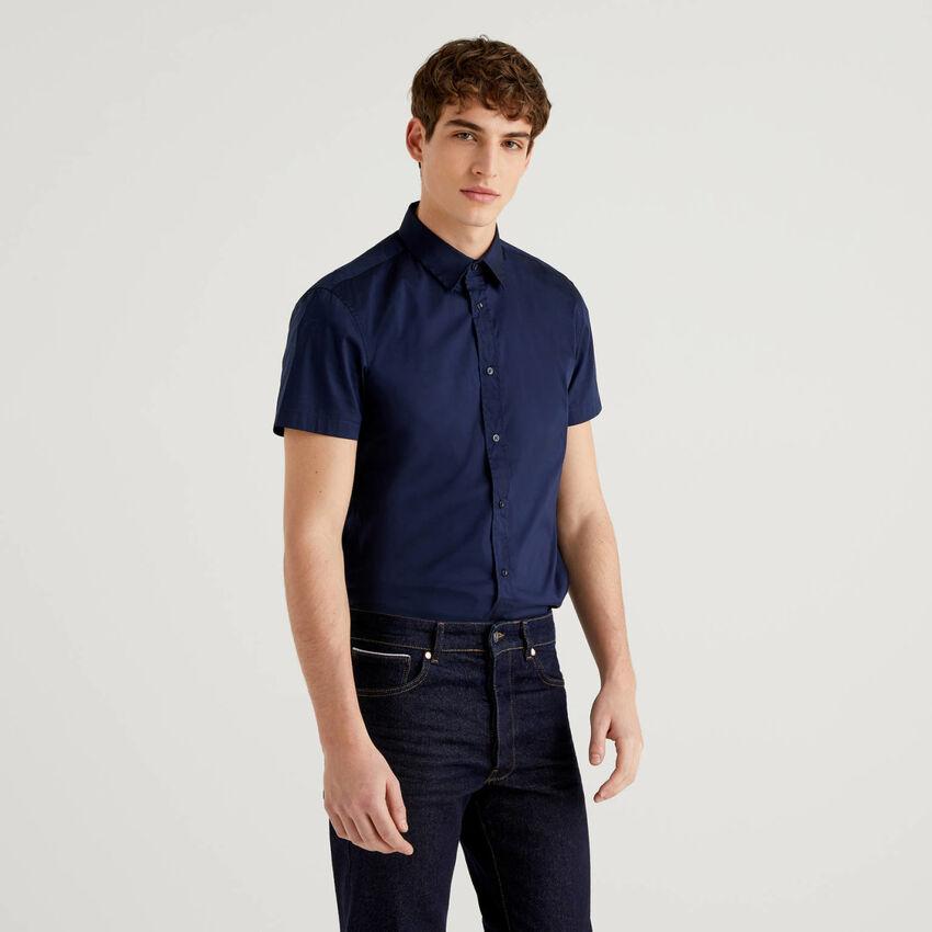 Chemise coupe slim à manches courtes