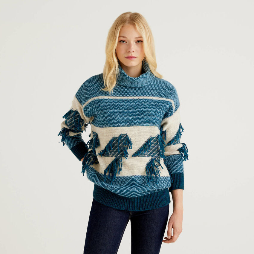 Pull maille jacquard