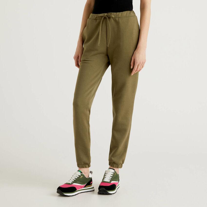 Pantalon de jogging vert militaire