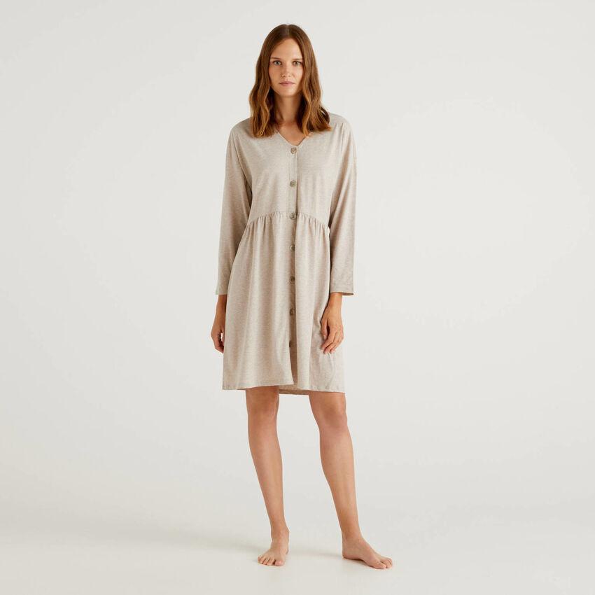 Chemise de nuit en coton à fibres longues
