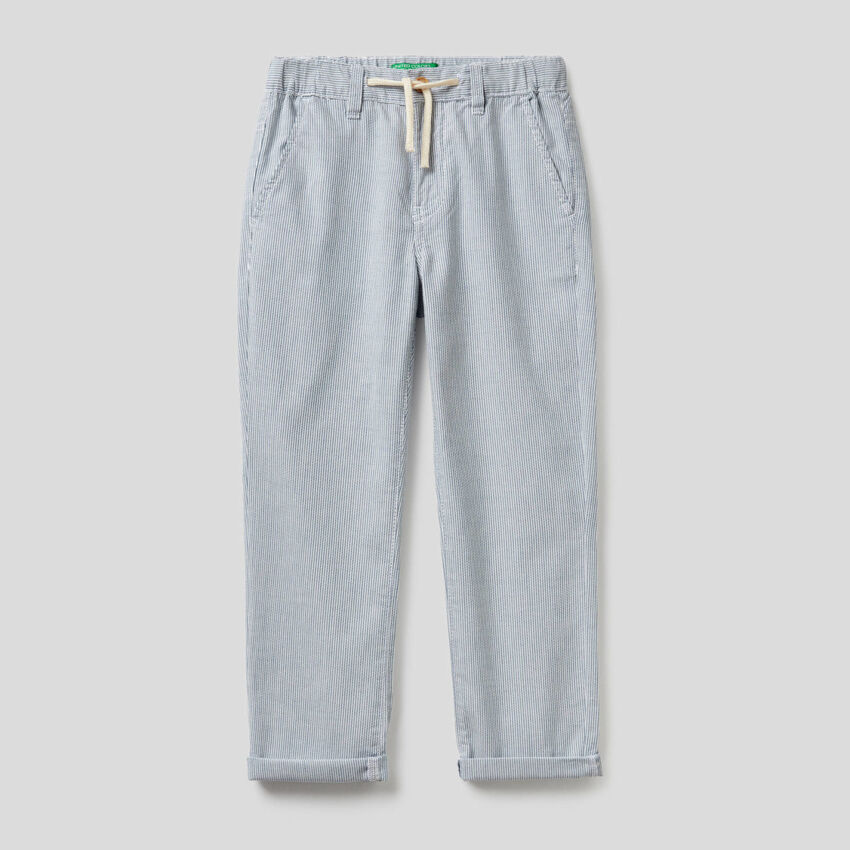 Pantalon à rayures en 100% coton
