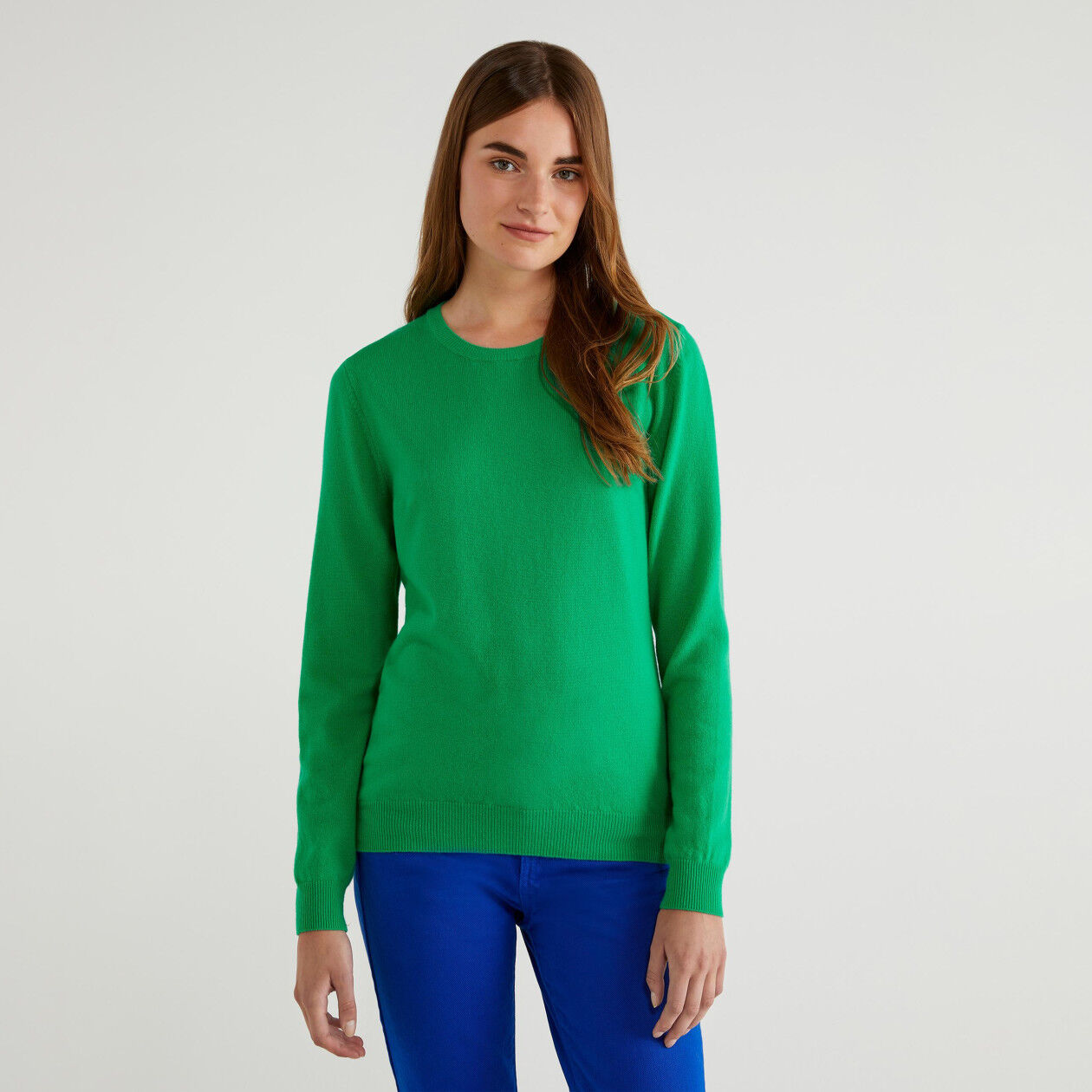 Pull col rond 100% laine vierge
