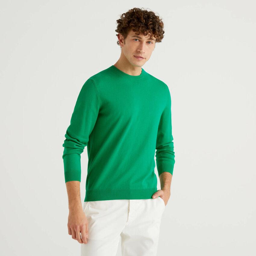 Pull col rond 100% coton