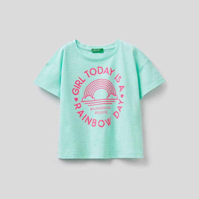 T-shirt coupe boxy en pur coton