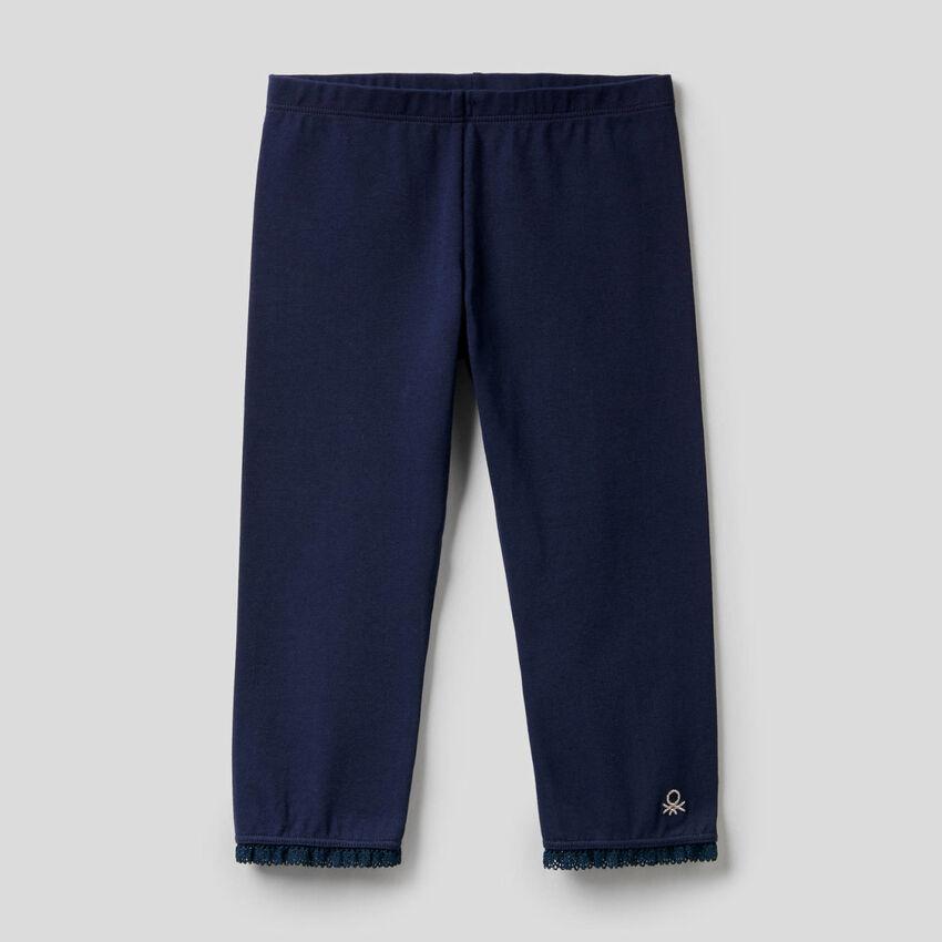 Legging longueur 3/4 en coton extensible