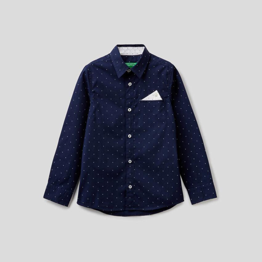 Chemise 100% coton avec petits motifs