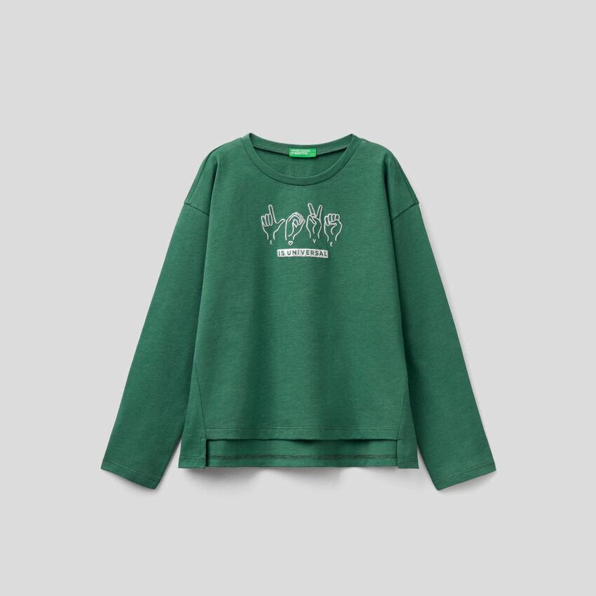 T-shirt manches longues 100% coton