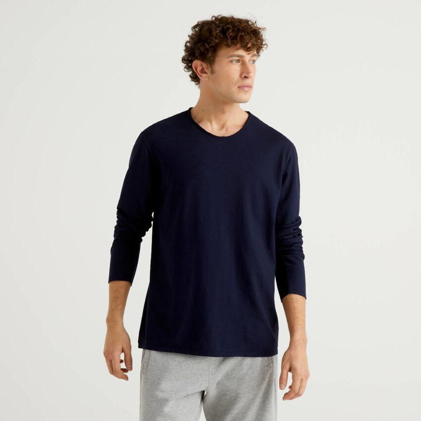 T-shirt à manches longues en 100% coton