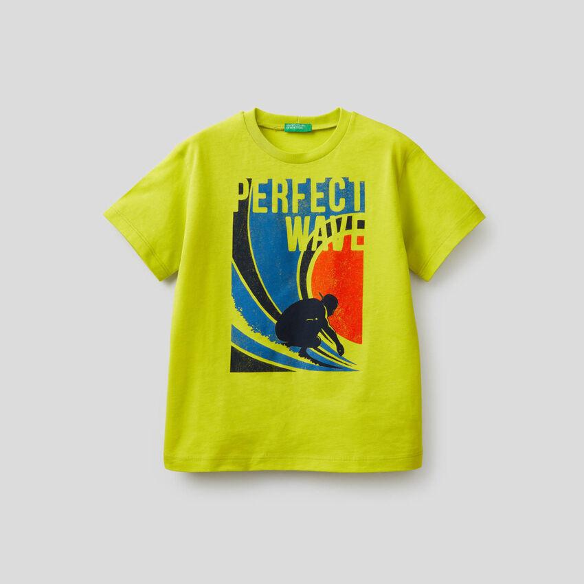 T-shirt en pur coton avec imprimé
