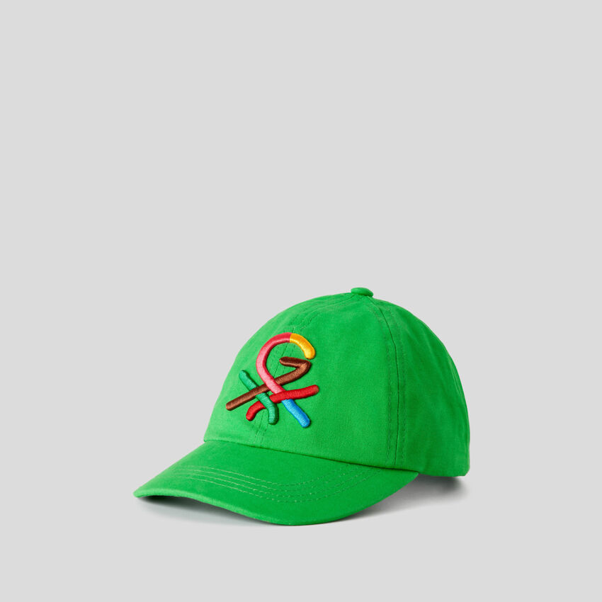 Casquette verte à logo brodé by Ghali