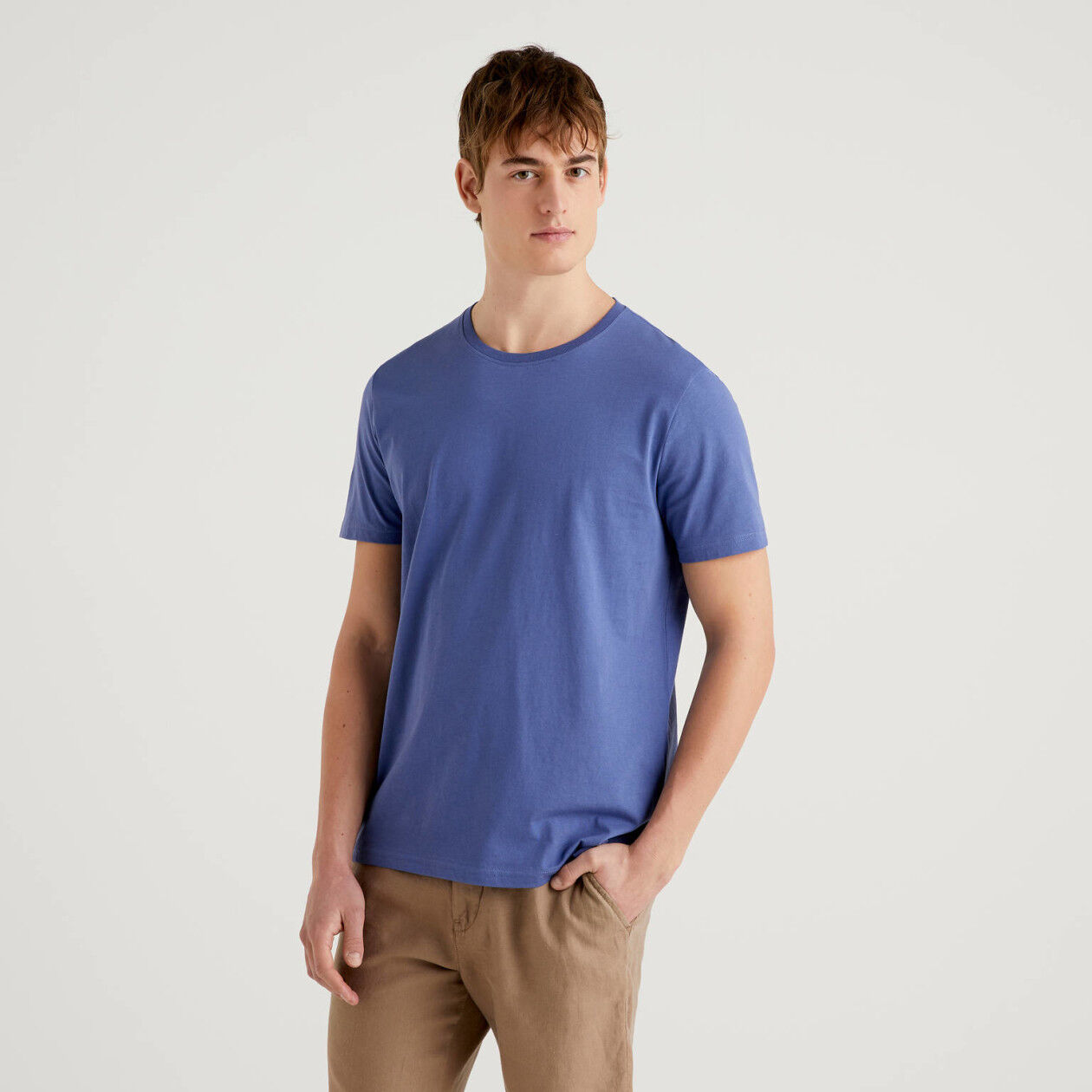T-shirt bleu horizon en pur coton