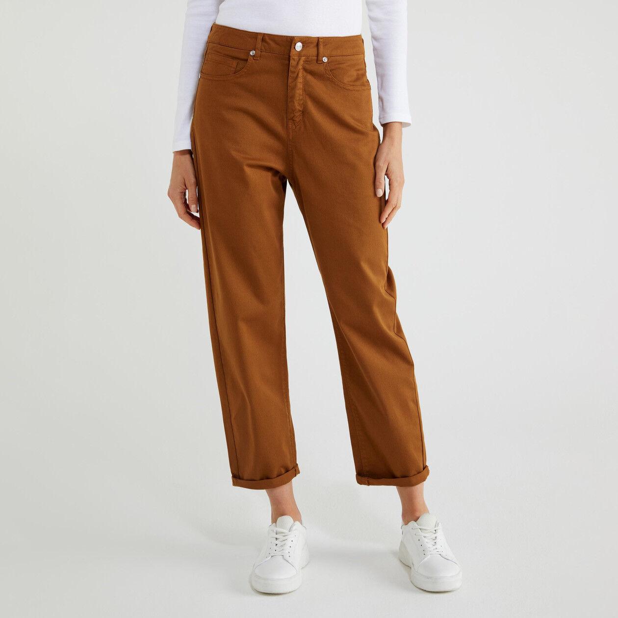 Pantalon en coton stretch