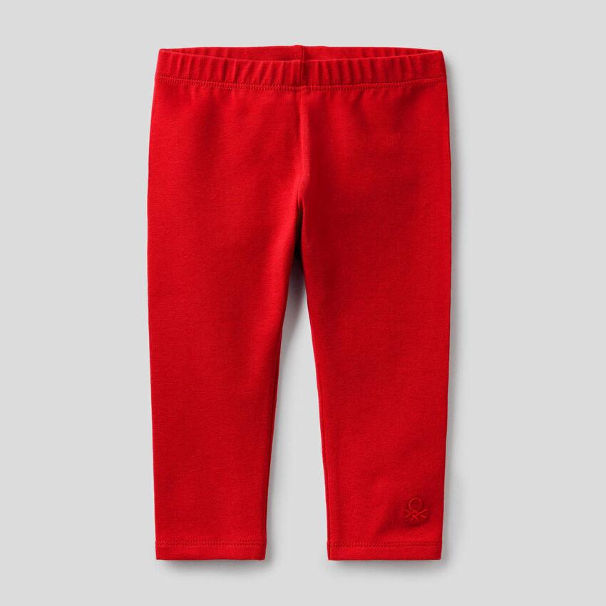 Legging rouge en coton stretch