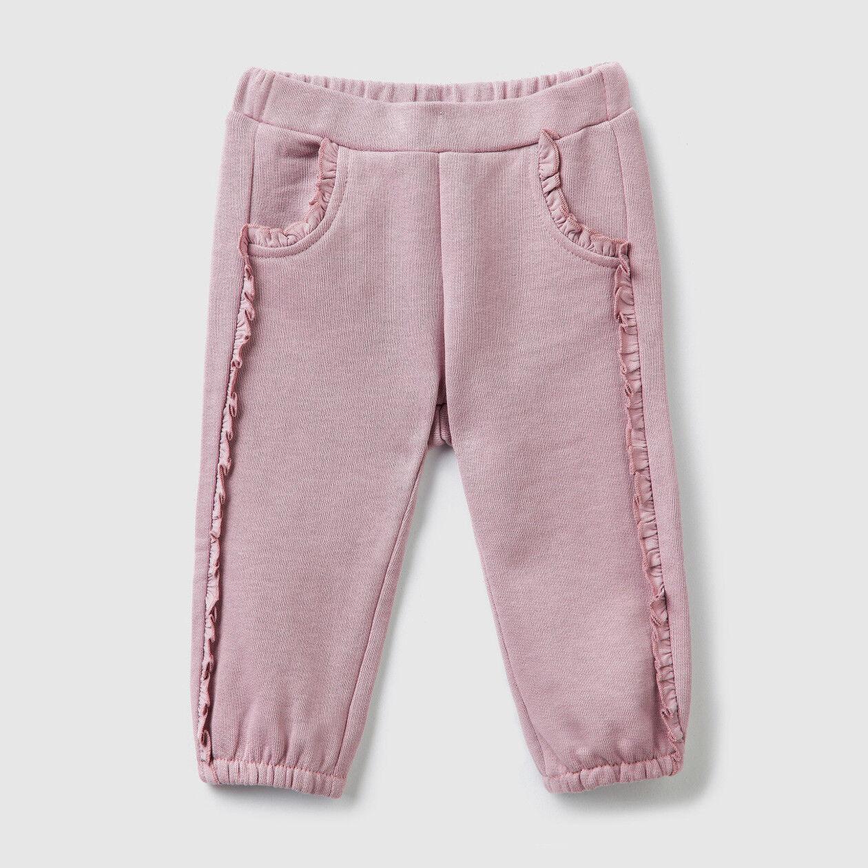 Pantalon en molleton avec fronces