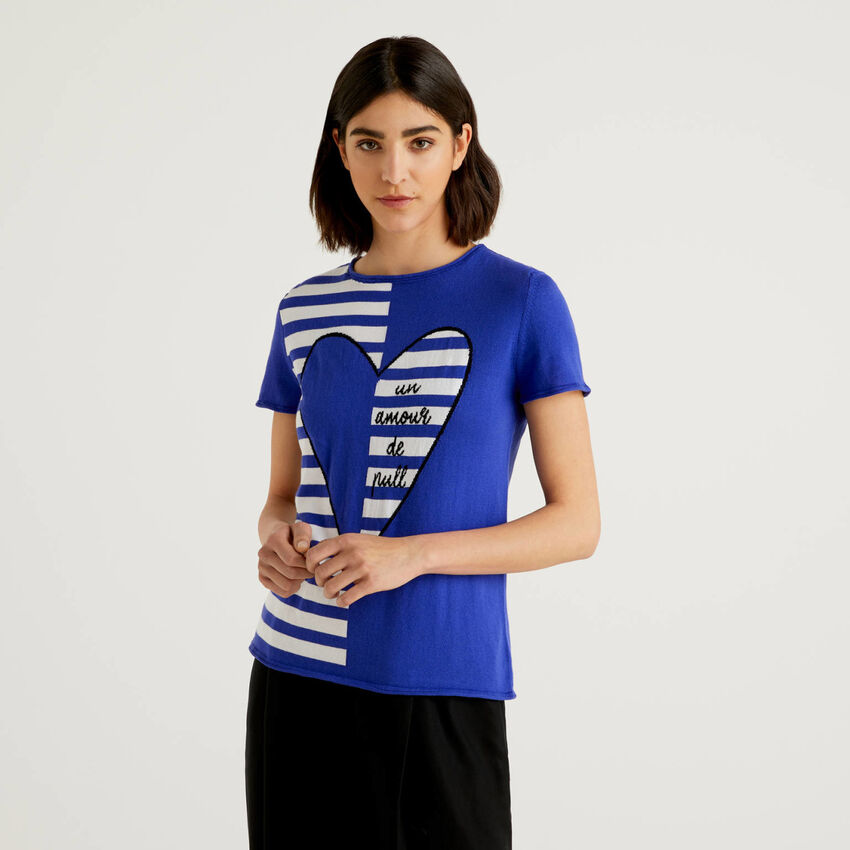 T-shirt en maille de coton