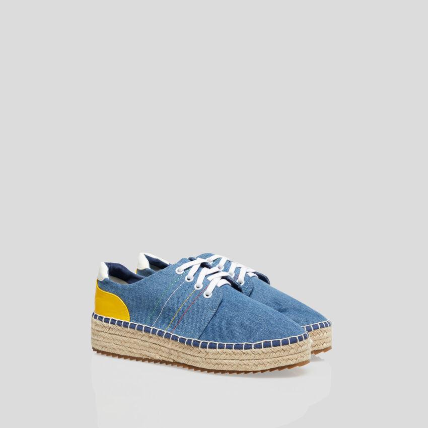 Sneakers avec détails en corde