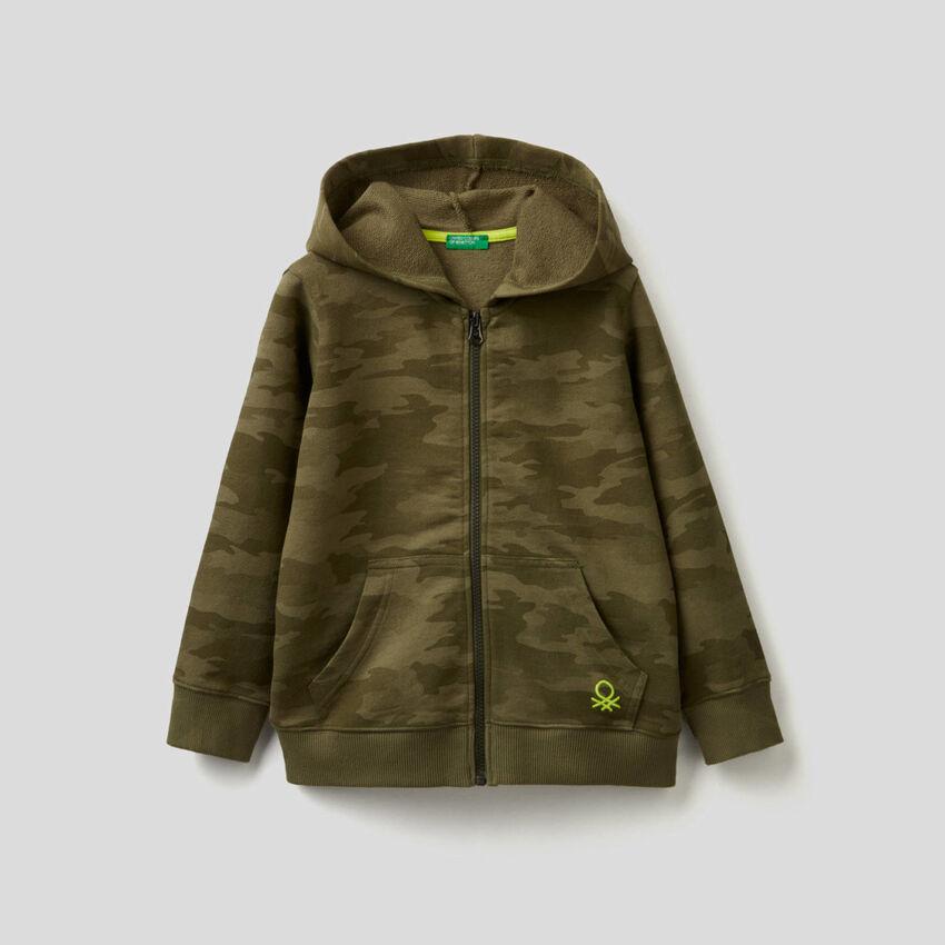 Sweat camouflage 100% coton