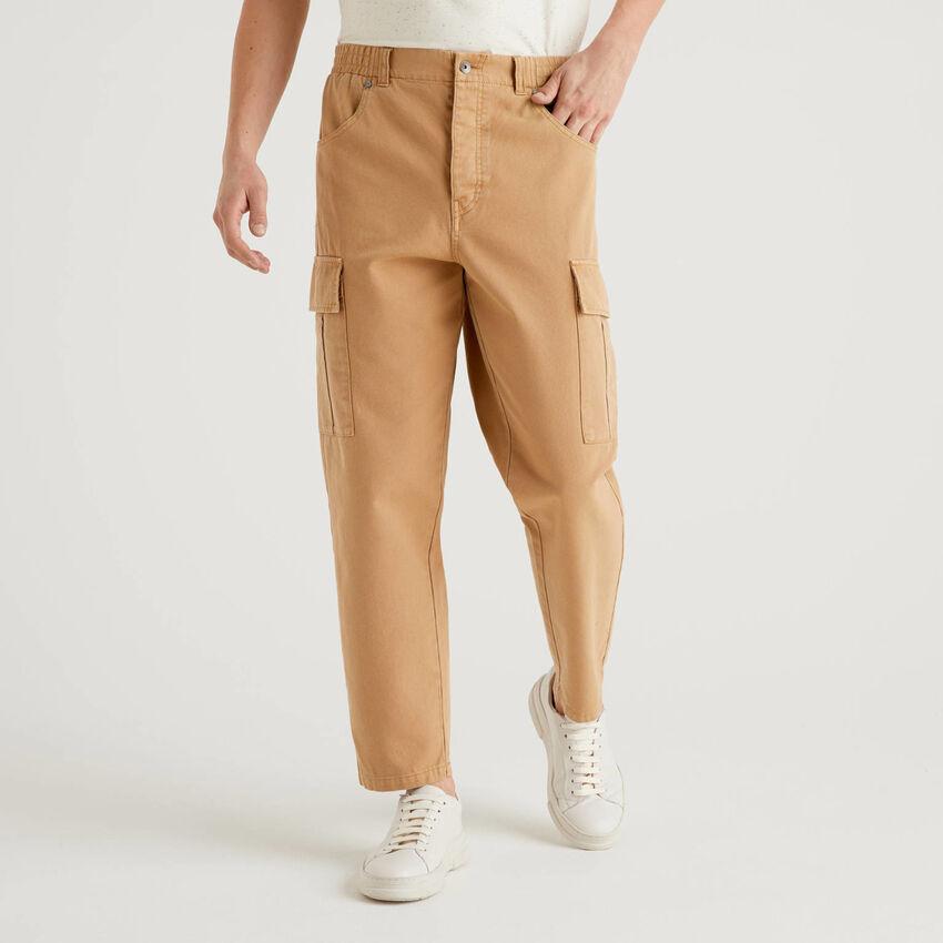 Pantalon cargo en 100% coton