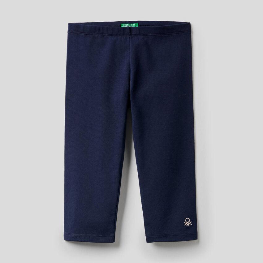 Legging 3/4 en coton stretch
