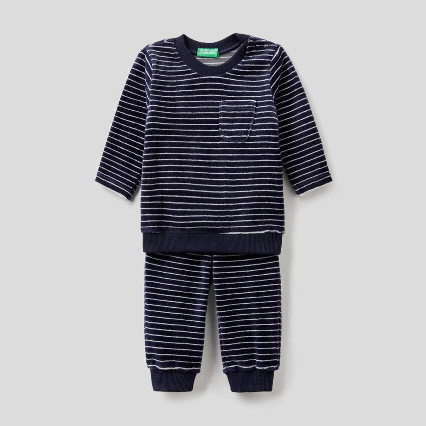 Pyjama en chenille à motifs