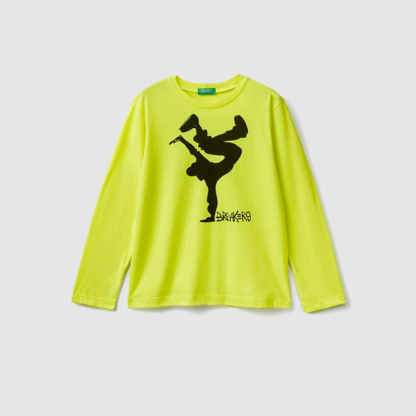 T-shirt avec détails fluo