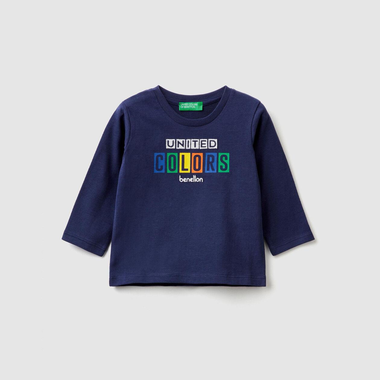T-shirt en coton chaud avec logo