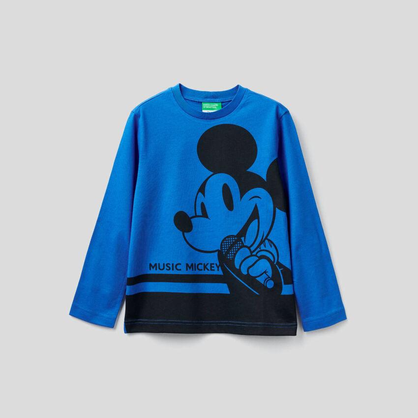 T-shirt manches longues à imprimé Mickey