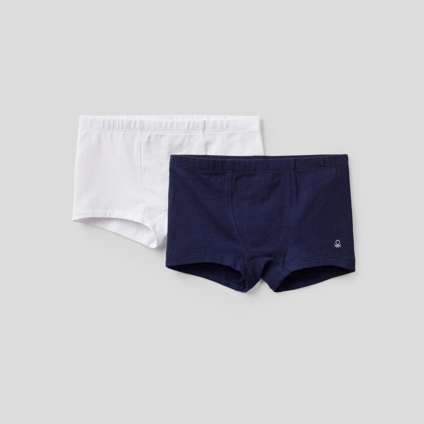 Deux boxers en coton stretch