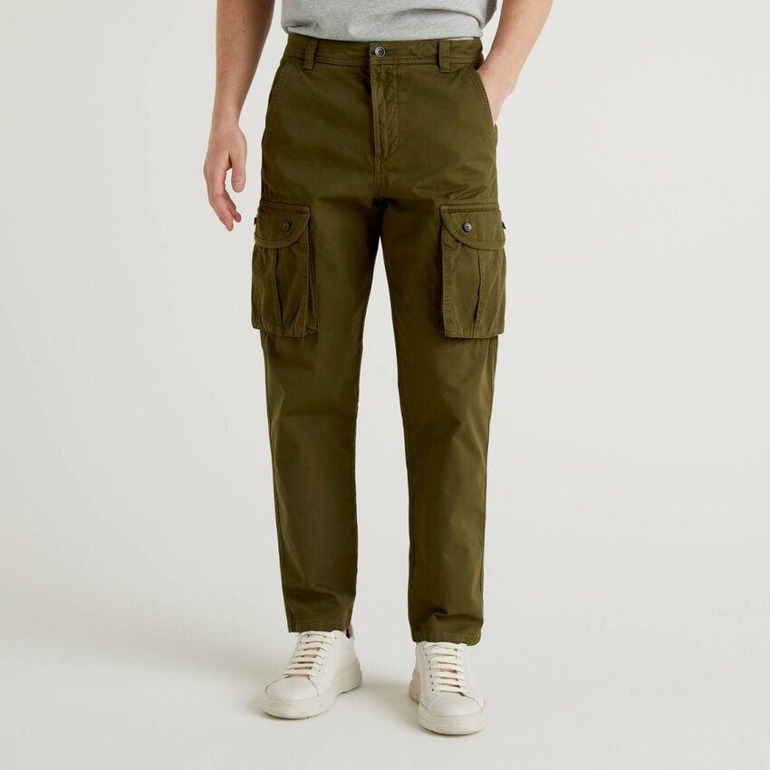 Pantalon cargo 100% coton