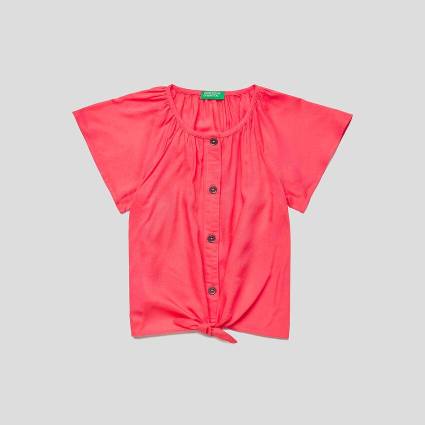 Chemise à manches courtes avec liens