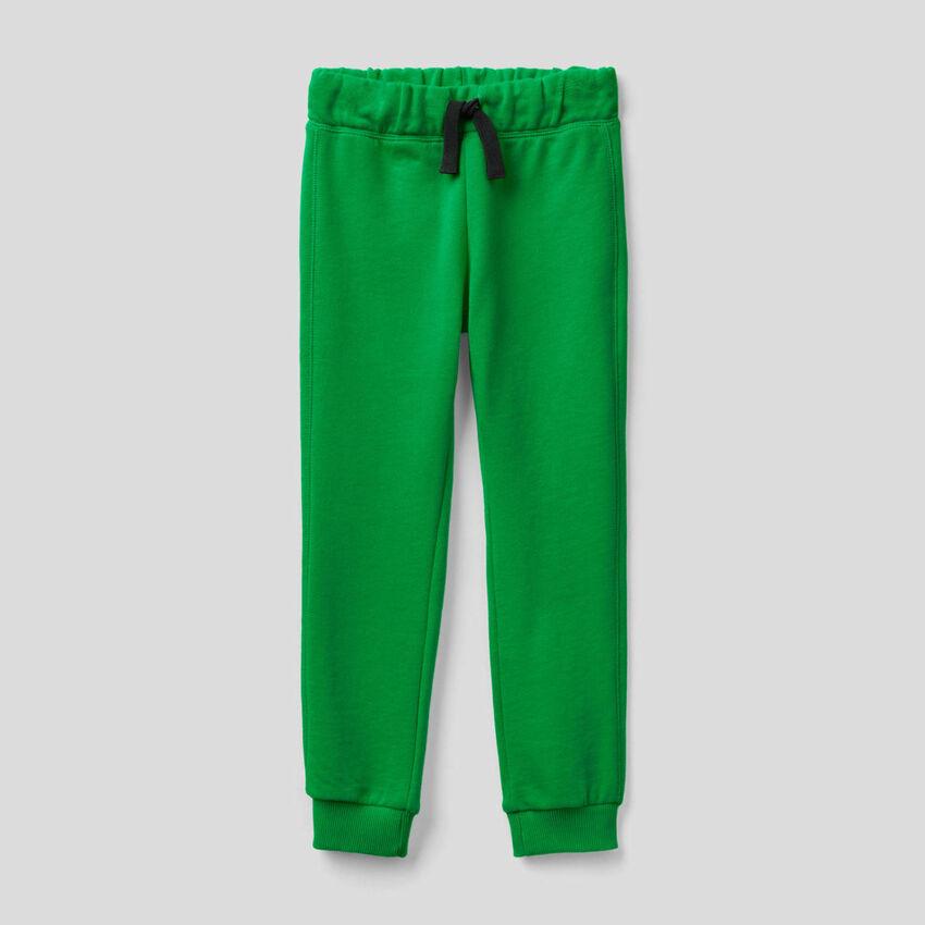 Pantalon vert en molleton 100% coton