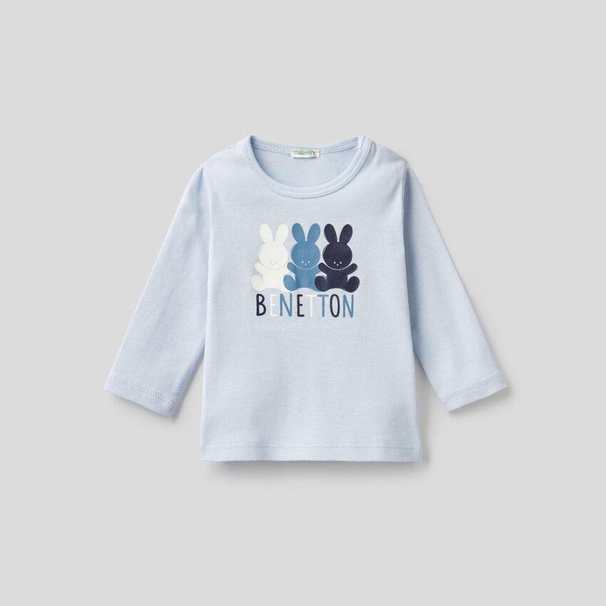 T-shirt à manches longues en 100% coton bio