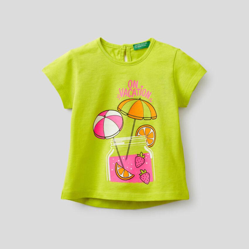 T-shirt avec imprimé fluo