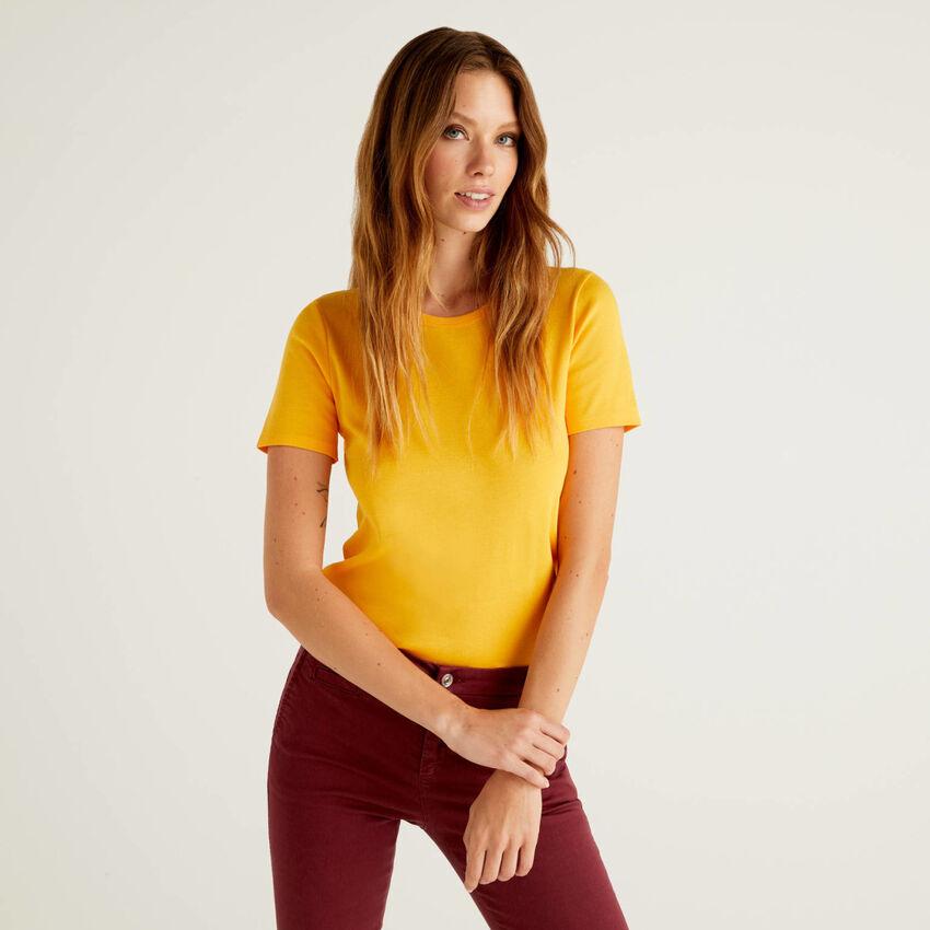 T-shirt personnalisable en coton à longues fibres