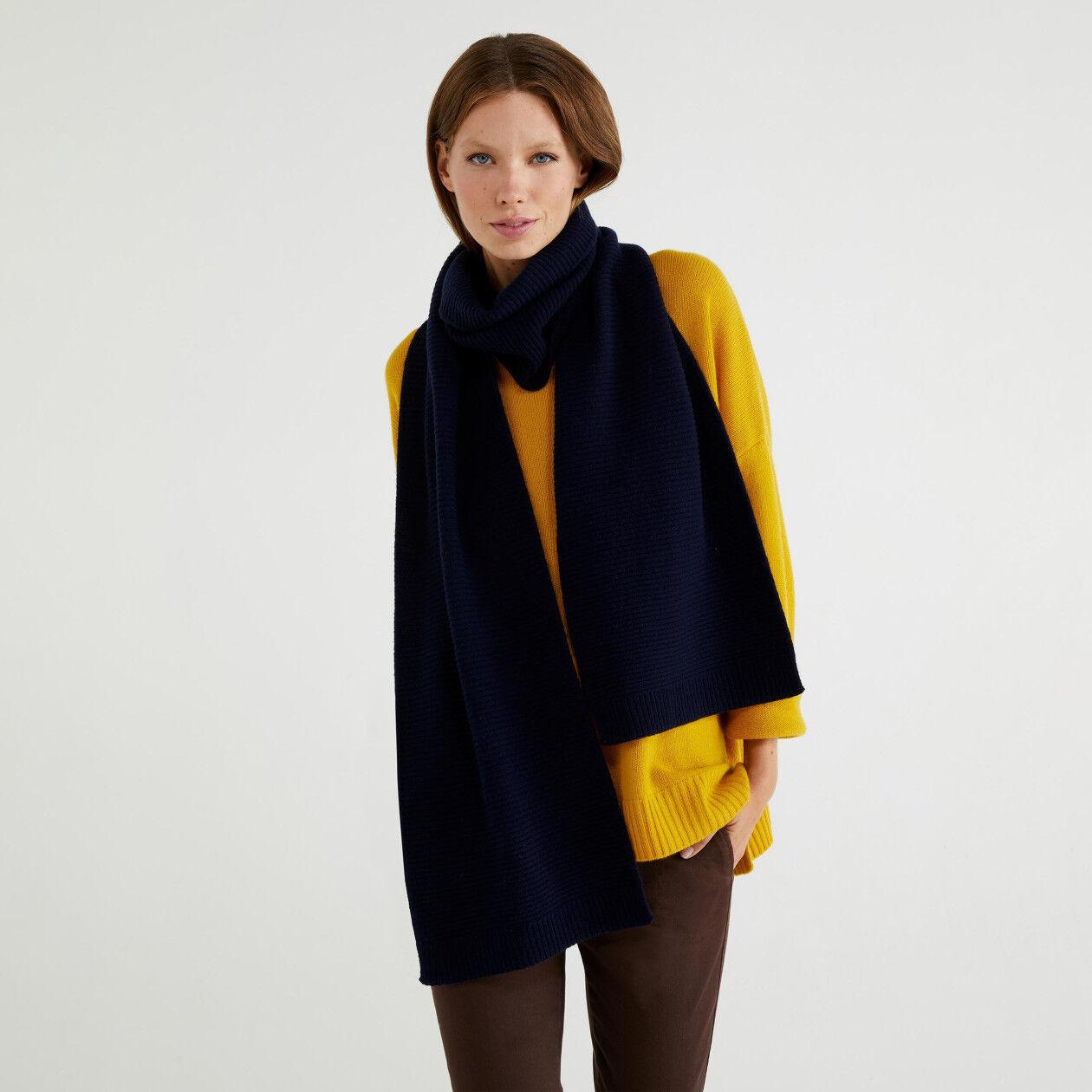 Écharpe en laine mélangée