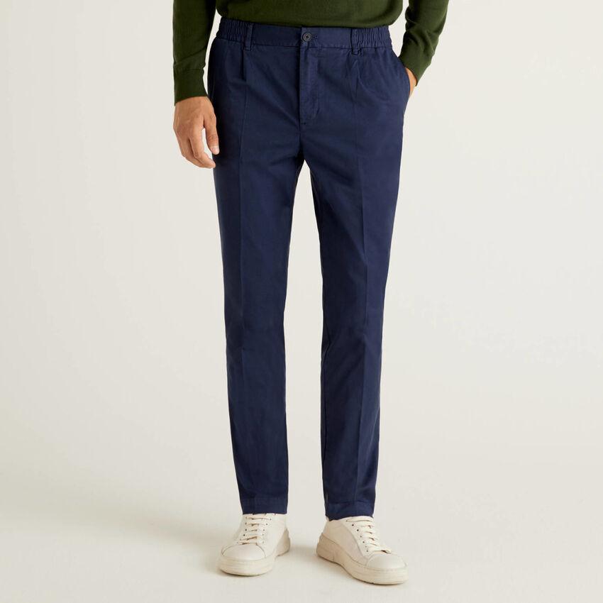 Pantalon avec élastique à la taille