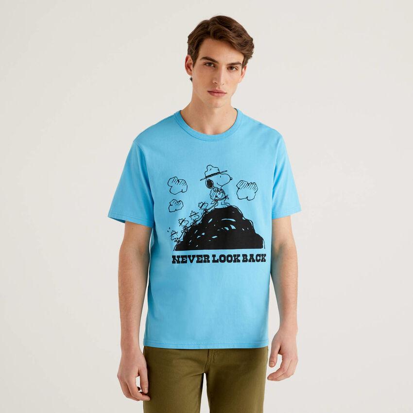 T-shirt Peanuts bleu