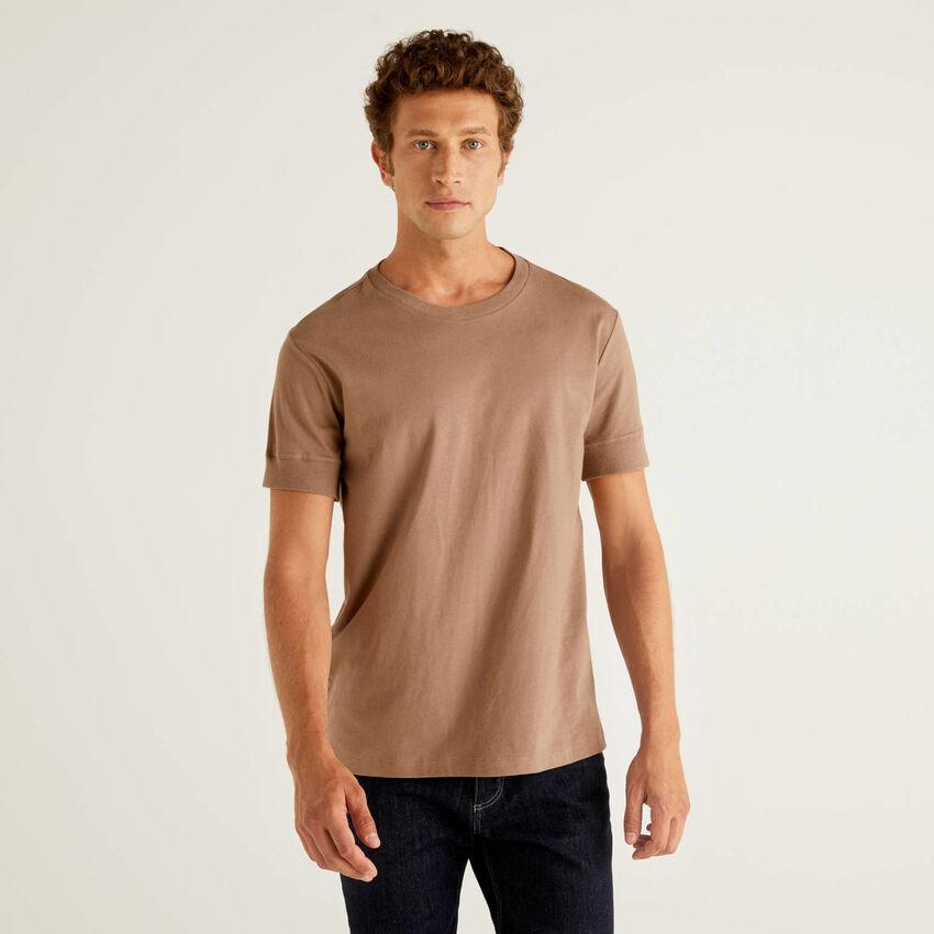 T-shirt uni à manches courtes
