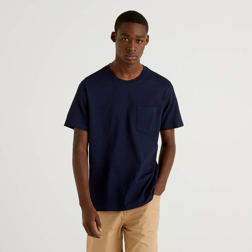 T-shirt 100% coton avec pochette