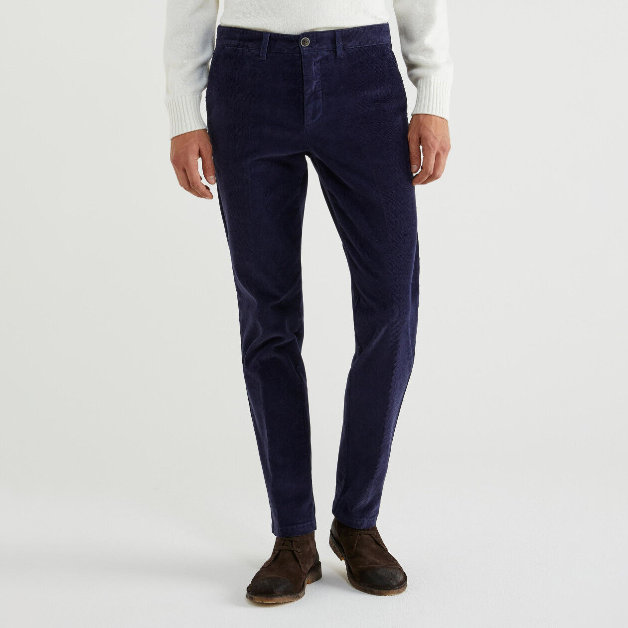 Pantalon coupe slim en velours